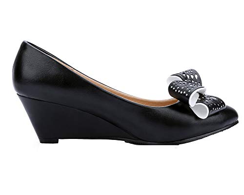 Noir Chaussures Couleur Correct Femme Tire Unie Talon TSFDH005735 à AalarDom Légeres cWZgvqc
