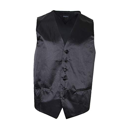 Élégant Costume Ipotch Business Sans Homme M Mariage Manches Unie Taille Veste Gilet Couleur Noir xl 55qrFv