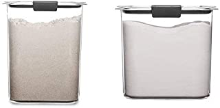 product image for Rubbermaid Brilliance Pantry 16 and 12 Cup Flour & Sugar Storage Container Set, Clear, 4-Piece Set (2 Bases with Lids)