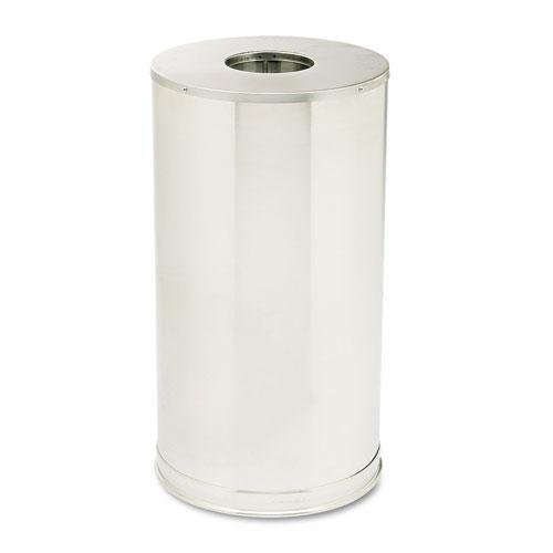 Rubbermaid Commercial CC16SSSGL European & Metallic Series Drop-In Top Receptacle, Round, 15gal, Satin Stainless