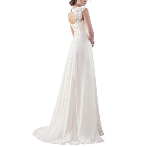 Erosebridal New Sleeveless Lace Chiffon Wedding Dress Bridal Gown ...
