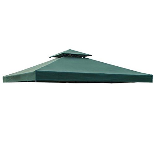 Heavy Duty 8' x 8' Feet Square Garden Canopy Gazebo Replacement Top Green Color Outdoor Patio UV Protection Sun Shade Waterproof Polyester Fabric Tent