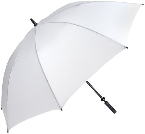 "Haas-Jordan Pro-LineGolf Umbrella | 62"" Large Windproof Canopy | Full Flexible Fiberglass Construction, Lightweight & Waterproof | Oversized Umbrellas | White"