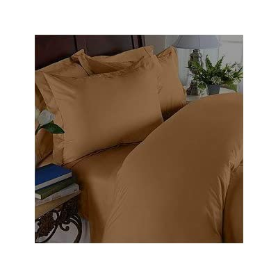 """Elegant Comfort Wrinkle & Fade Resistant 1500 Thread Count Egyptian Quality Luxurious Silky Soft 4 pc Sheet Set, Deep Pocket Up to 16"""" - Full Bronze - 1 Flat Sheet (81"""" x 96"""") 1 Fitted Sheet (54"""" x 75"""") and 2 Standard Pillow Cases (20"""" x 30"""") Fits mattresses up to 14"""" - 16"""" deep with elastic all around the fitted sheet Micro fiber sheets are as soft as 1,500 thread count Egyptian cotton - sheet-sets, bedroom-sheets-comforters, bedroom - 31tLlsMvI5L. SS400  -"""