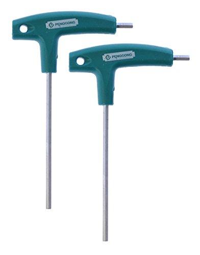 Stainless Vanadium Steel - 2 Pack 4mm T Allen Wrench Ideal for Tripod Penggong 6150 Vanadium Stainless Steel