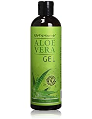 Organic Aloe Vera Gel - Big 12 oz - NO XANTHAN, so it Absorbs Rapidly with No Sticky Residue - Made from REAL JUICE, NOT POWDER