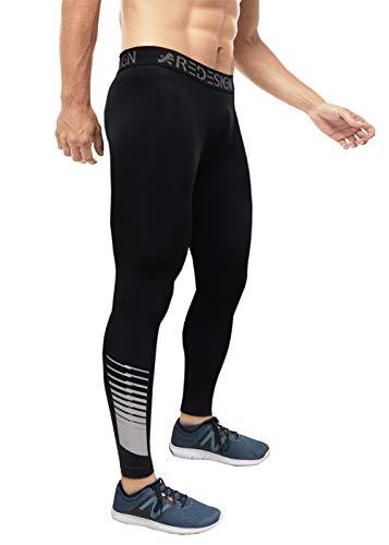 Redesign Men Nylon Reflective Sports Compression Pants/Tights/Leggings