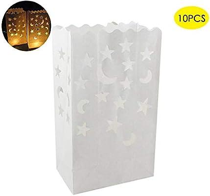 Amazon.com: Teepao - Bolsas luminosas de papel reutilizables ...
