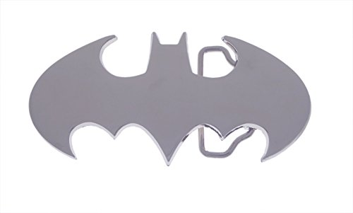 Batman Logo Belt Buckle - Silver Brand New Mens Superhero Batman Silver Logo Belt Buckle