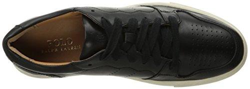 Jeston Lauren Sneaker Polo Ralph Black Men's qROxY4tw