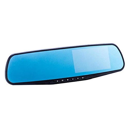 Co-Pilot CPDVR3 1080P Full HD LCD Rear-View Mirror Car Video Recorder Dual...