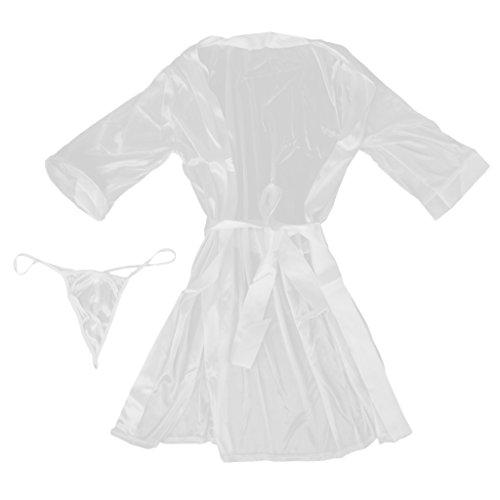 Notte Abiti per Da Donne Vestaglie bianca Baosity Pigiama Kimono Camicia Accappatoi Vestiti RgFITqx