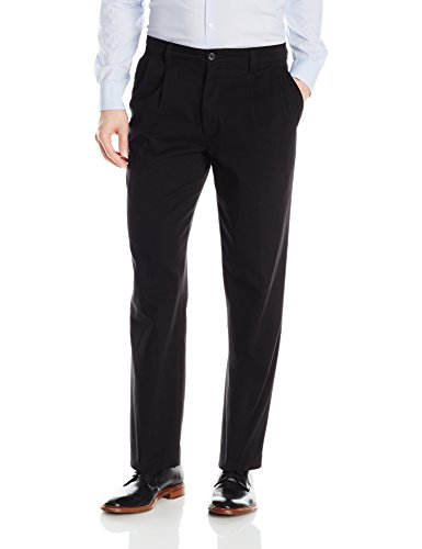 - Dockers Men's Classic Fit Easy Khaki Pants - Pleated D3, Black (Stretch), 36 32