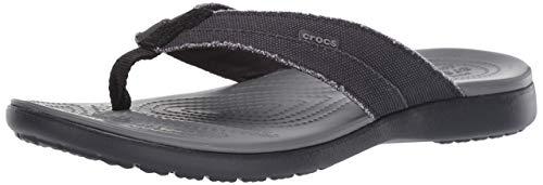 Crocs Men's Santa Cruz Canvas Flip Flop | Sandals Slip on Shoes