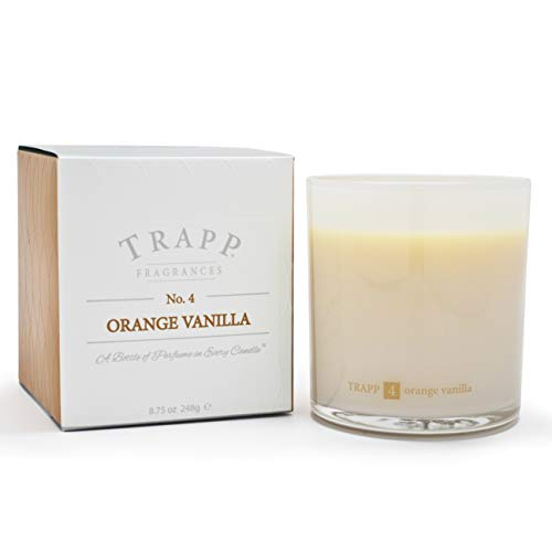 - Trapp Ambiance Collection No. 4 Orange Vanilla Poured Scented Candle, 8.75-Ounces