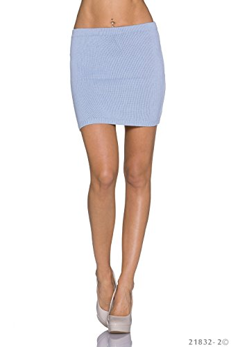 Unbekannt - Falda - para mujer azul claro