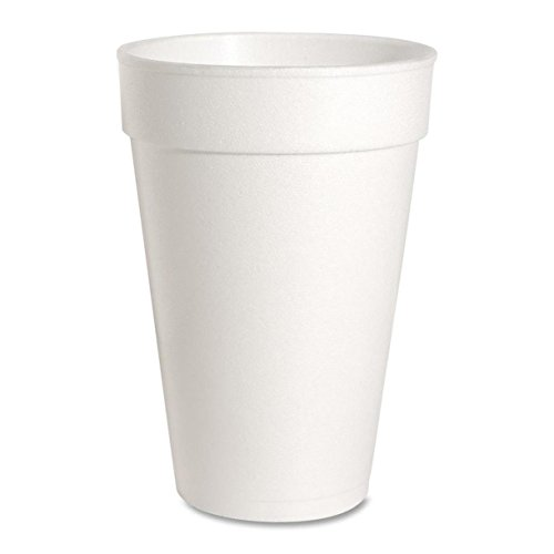 Genuine Joe GJO58554 Hot/Cold Foam Cup, 16-Ounce Capacity, White (Carton of 500)