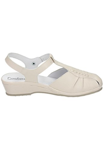 Comfortabel Sand Beige Sandalen 8 710704 Damen Leder zzT7q