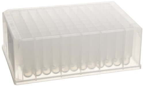 Whatman 7701-5200 Natural Polypropylene 96 Wells Uniplate Collection and Analysis Microplate with Round Well Bottom, 2mL Volume (Pack of 25)