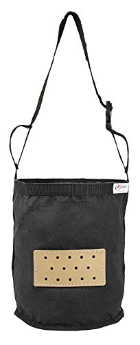 Derby Originals Leather Vented Heavy Duty Duck Canvas Feed Bags - Multiple Sizes and Colors Available (Black (2019 Revision), Full Horse) ()