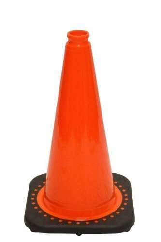 18'' Orange Traffic Safety Cones with Black Base (Pack of 12) by Comfitwear