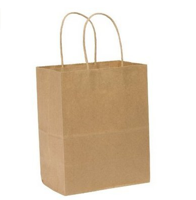 10 pcs 8x6x3Inch Kraft Paper Bags with Twisted Handles Pa...