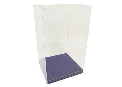 10 Scatole Trasparenti Fondo Blu 15x15x25 Cm Bomboniere Fai Da Te