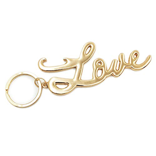 Love Gold Keychain Novelty Key Chains Womens Keyrings Fashion Jewelry Accessories (Love Opener)