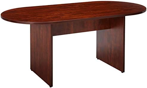 Lorell Oval Conference Table, Top and Base, 72 by 36 by 29-1 2-Inch, Cherry