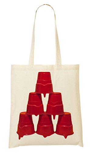 À Fourre Provisions Red Sac Sac Triangle Party Pyramid Tout Cups f6nT1qH