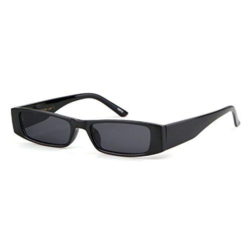 1 Gris Lente Designer rectangulares Women Marco sol Men Fashion Stylish Clout Goggles ADEWU Negro Gafas de qO6BHZTZ
