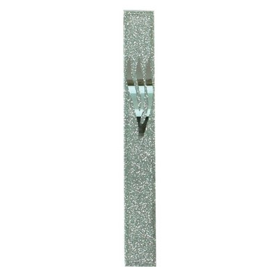Mezuzah Case Gifts - Art Judaica Sparkling Glass Mezuzah Case with Silver Letter Shin 12 Cm
