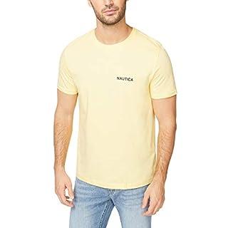 Nautica Men's Short Sleeve Crew Neck T-Shirt, Corn Solid, Large