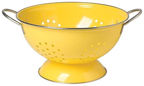 Now Designs Metal Colander, 3-Quart, Lemon Yellow (Renewed)