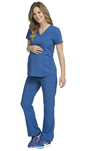 Med Couture Activate Women's Maternity Scrub Set Bundle- 8459 V-Neck Top & 8727 Panel Pant