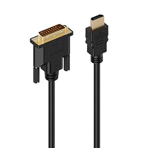 Adapter Video Cable, HDMI to DVI-D Adapter Video Cable-HDMI Male to DVI Male to HDMI to DVI Cable 1080p High Resolution LCD and LED Monitors