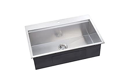 Ledge Series 31u0026quot; X 10u0026quot; Undermount Or Topmount Kitchen Sink