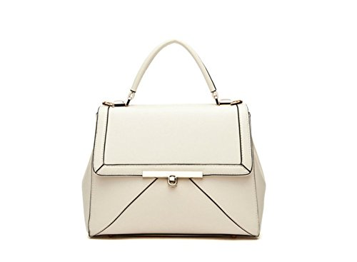 In A Tracolla Colore Ecopelle Da qckj Donna Winter borsa Bianco Lorenz qfZgFR
