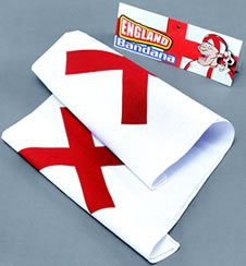 Bristol Novelty MD144 England Bandana and Eye Patch , White/Red , One Size