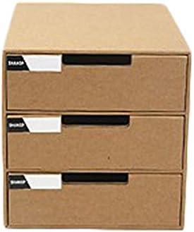 HOUYAZHAN Caja de almacenamiento de escritorio de papel de cajón ...