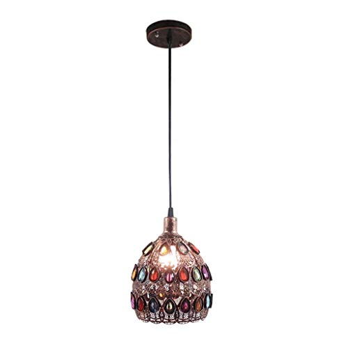 XUMINGDD Vintage Iron Chandeliers Peacock Feather Ethnic Characteristics Ceiling Light Living Room Dining Room Corridor Kitchen Coffee Bar Theme Restaurant Hanging Lights