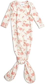 aden + anais Snuggle Knit Knotted Newborn Baby Gown, Super Soft and Stretchy Gown with Mitten Cuffs, 0-3 Month