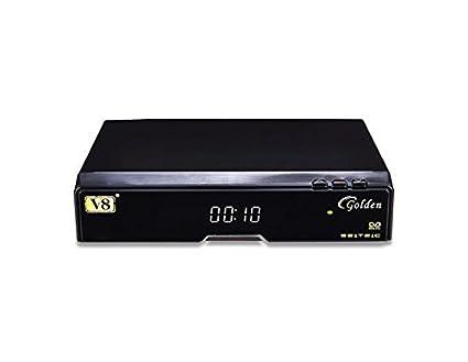 Generic V8 Golden DVB-S2/T2/C Satellite TV Receiver Support PowerVu Biss  Key Cccam Newcam USB WiFi (Black)