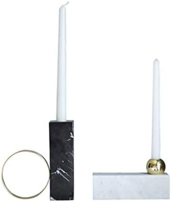 モダンな大理石のキャンドルの柱ホルダー-INS創造的な大理石と金属真鍮の燭台-結婚式、特別なイベント、パーティーテーブルのセンターピースキャンドルスティック-クリスマス感謝祭の贈り物,2pcs