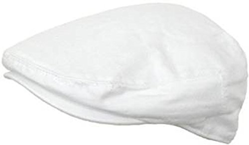 Summer Cotton Ivy Scally Driving Hat Newsboy Golf Cap (White, Extra Large)