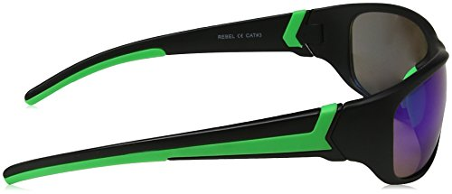 Eyelevel Black Green Hombre para Mirror 65 Rebel Gafas Negro Sol de Blue 6wHrAq6a