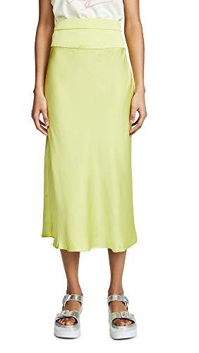 Free People Women's Normani Bias Skirt, Jackfruit, Yellow, Green, 0 ()