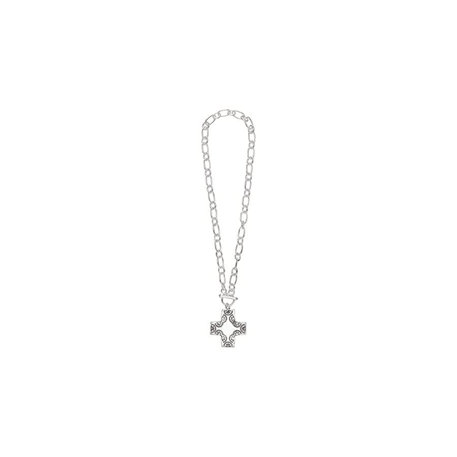 Silpada 'Cross Pendant Necklace' in Sterling Silver