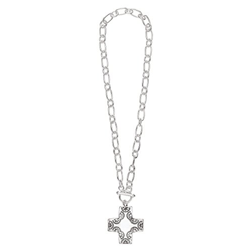 Silpada'sterling Silver Cross Pendant, 17""
