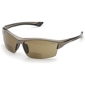 Elvex WELRX350BR15 RX-350BR-1.5 Diopter Safety Glasses, Brown Lens